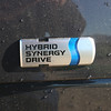 A look at the hybrid synergy drive decal on the back.