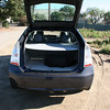 A look at the 2010 Prius with the hatch open and the tonneau cover pulled.