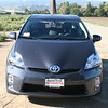 A front view of the winter grey 2010 Prius.