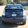 A back view of the 2010 Prius.