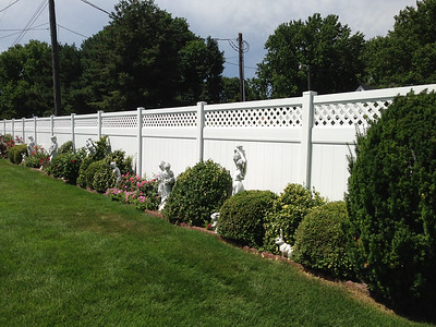 White Hollingsworth Fence