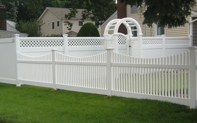 Hollingsworth, Lakeland and Hampton Scallop Fences with Arbor