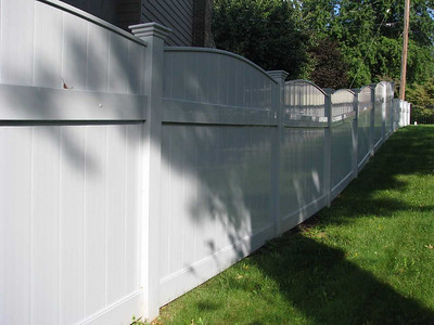 Gray Lakeland Convex Fence