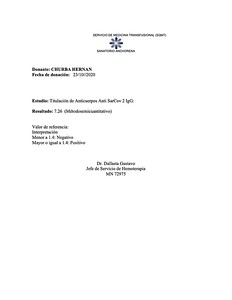 CHURBA HERNAN - Anticuerpos COVID