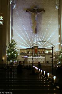 Efter Kalle Anka så var vi på julbön i Högalidskyrkan...