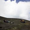 Pihenő a kráter peremén