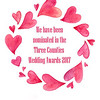 34569177 - watercolor painted pink hearts round frame