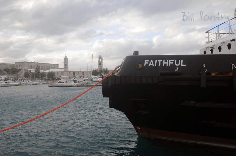 """Faithful"" with Dockyard in backgound"
