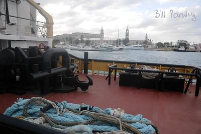 """Faithful"" with Dockyard in backgound"