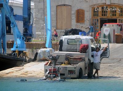 "Sept., 2010.  Igor preparations, ""Woofless"" stored in Dockyard Keep"
