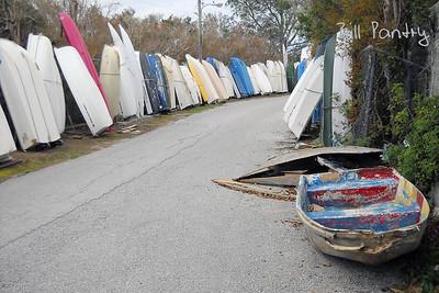Punts on Fairways Road, Riddells Bay