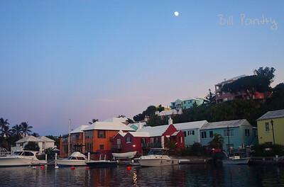 Flatts village under the moon