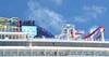 """""""Norwegian Breakaway"""" alongside in Dockyard."""