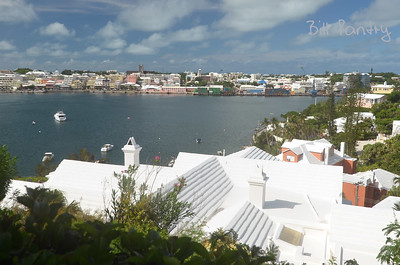 """view of Hamilton from """"Rocheterre"""", Valley Rd., Paget, Bermuda"""