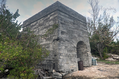 Old Lime Kiln on Coney Island, St. Georges, Bermuda