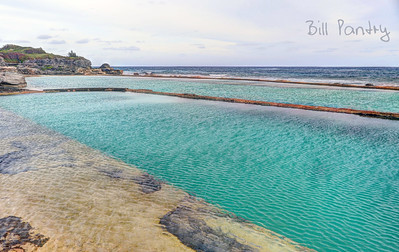 Ariel Sands pools along the shore. Devonshire, Bermuda