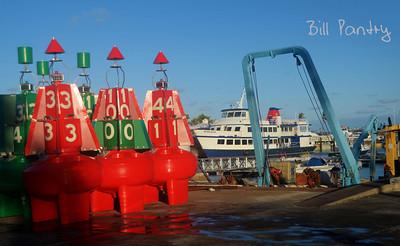 new channel markers, Dockyard, Sandys, Bermuda