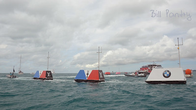 America's Cup Finals. The Great Sound, Bermuda