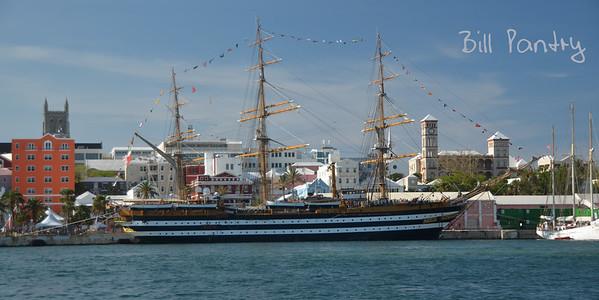 Tallships 2017, Americo Vespucci, massing in Hamilton Harbour, Bermuda