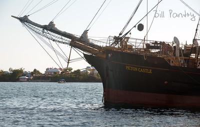 Tallships 2017, Picton Castle, massing in Hamilton Harbour, Bermuda