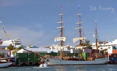 Tallships 2017, Europa, massing in Hamilton Harbour, Bermuda
