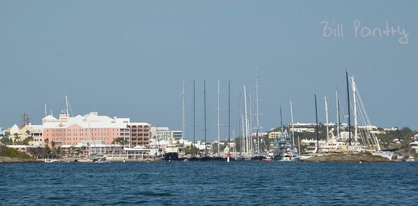 Yachts alongside Princess Hotel, Pembroke, Bermuda
