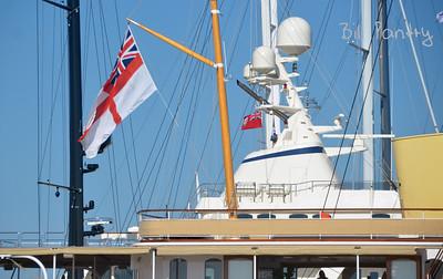 Megayacht Shemara alongside Princess Hotel, Pembroke, Bermuda