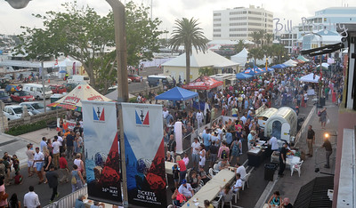America's Cup celebration on Front Street, Hamilton, Bermuda