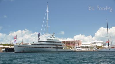 Megayacht Savannah alongside Princess Hotel, Pembroke, Bermuda