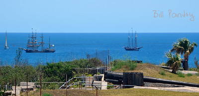 Tallships 2017, predeparture massing in St. George's. View from Battery Park, St. David's, Bermuda