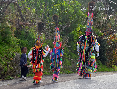 The Gombeys setting off on New Years Day in St. George's, Bermuda
