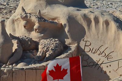 Labor Day Sand Sculpture contest, Horseshoe Bay, Southampton, Bermuda