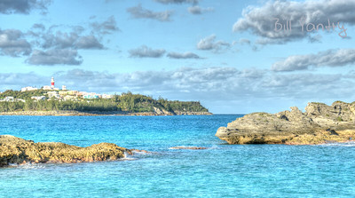 St Davids light from Coopers Island Nature Reserve, St Davids, St Georges, Bermuda