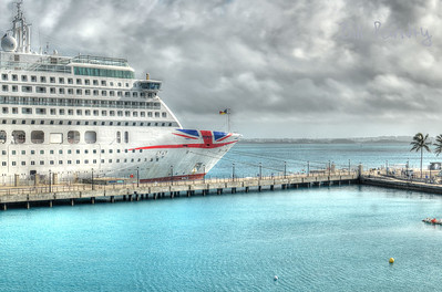 Cruise ship alongside Dockyard, Sandys, Bermuda