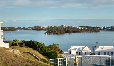 View of St Georges Harbour, St Georges, Bermuda