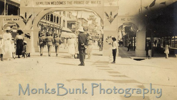 Front St, Prince of Wales visit, Oct 1920