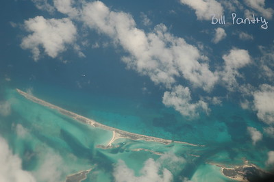 Bahamas from the airplane