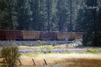 along US97, Oregon to California