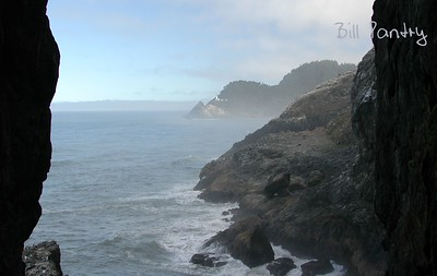 Heceta Head Lighthouse from Sea Lion Cave, Oregon Coast Hwy