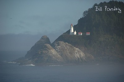 Heceta Head Lighthouse from Sea Lion Point, Oregon Coast Hwy. One of the most beautiful lighthouses in the world. The Heceta Head Lighthouse and Light Keeper's house are circa 1894. Said to be the most photographed lighthouse in the US.