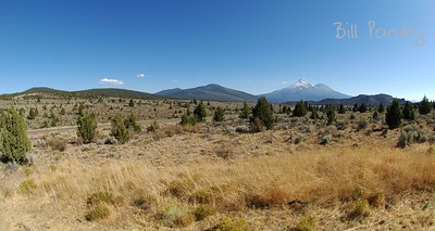 Mt Shasta, along US97, California