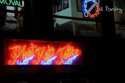 Ybor City at night