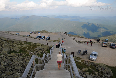 Summit, Mt Washington, New Hampshire, looking down at Wildcat Ski area