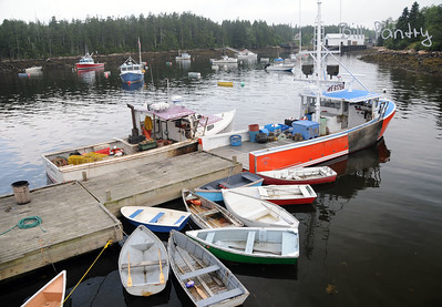 row boats, Winter Harbor, Maine