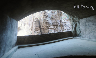 from inside Hwy 9 tunnel, Zion National Park, Utah