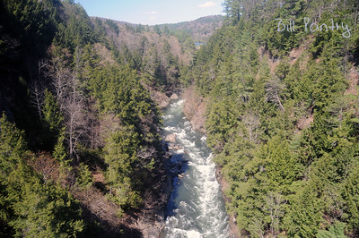 Ottauquechee River from Quechee Gorge Bridge, Quechee, Vermont