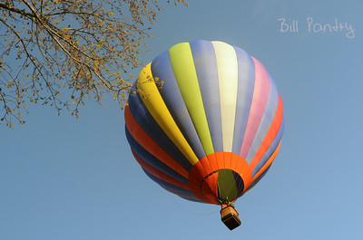 Balloon over Quechee Village Green, Vermont