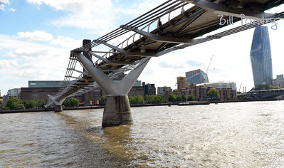 The Millenium Bridge, The City of London, England