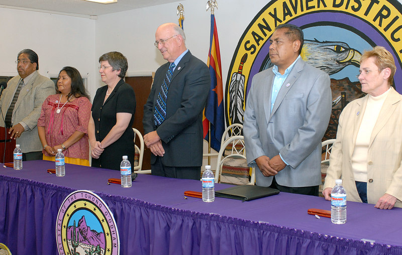 (5.5.2006 -- San Xavier, Arizona)  Images from the signing ceremony of the Southern Arizona Water Rights Settlement Act (SAWRSA).