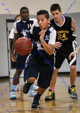 Lourdes Academy vs Ascension BBall - Mar 2014